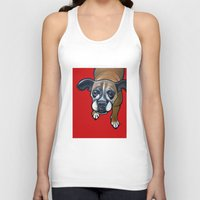 lucy Tank Tops featuring Lucy by Pawblo Picasso
