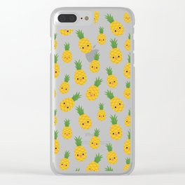 Pineapples Clear iPhone Case