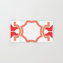 Red four sides Hand & Bath Towel