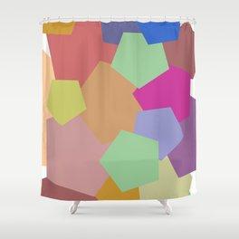 Colliding Colors Shower Curtain