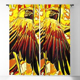 blue yellow breasted macaw parrot bird vector art ember Blackout Curtain