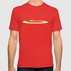 Long Journey Mens Fitted Tee Red SMALL
