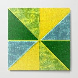 Abs Geometry lemon Metal Print