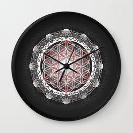 Flower of Life + Metatrons Cube Wall Clock
