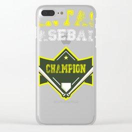 Fantasy Baseball Champion Shirt Clear iPhone Case