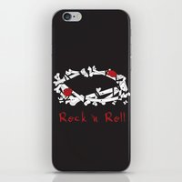 rock n roll iPhone & iPod Skins featuring Rock 'N Roll by Estaschia Cossadianos
