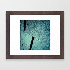 Blue Wood Grain Framed Art Print