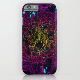 Kuala Lumpur City Map of Malaysia - Neon Lights iPhone Case
