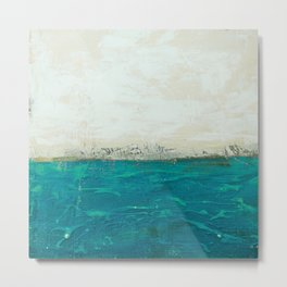 Abstract Seascape 2/2 (diptych)  Metal Print