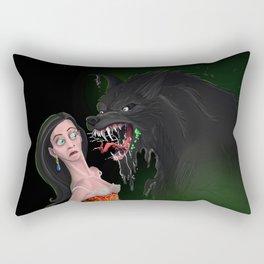 Howl-itosis: need a mint? Rectangular Pillow