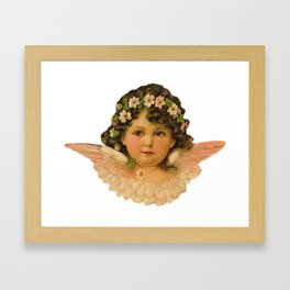 Flowers crown Framed Art Print