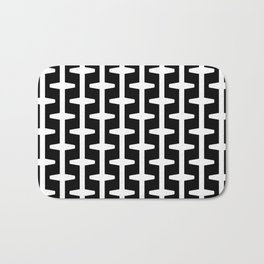 Geometric Pattern 207 (black white) Bath Mat