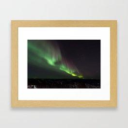 Northern Green Light Framed Art Print