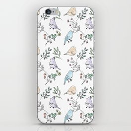 Watercolour birds iPhone Skin