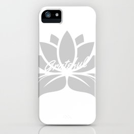 Grateful Lotus iPhone Case