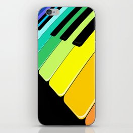 Piano Keyboard Rainbow Colors  iPhone Skin