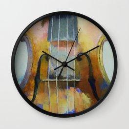 Violin Painting Wall Clock