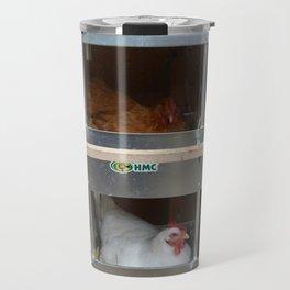 No Room (Hens in nesting boxes) Travel Mug