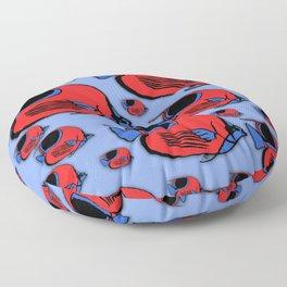Red & Blue Sunfish Floor Pillow