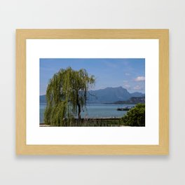 A happy willow Framed Art Print