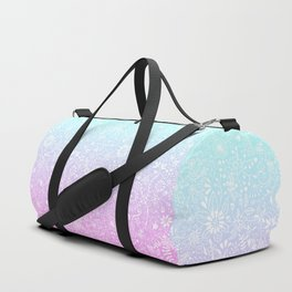 Floral Gradient - Pink and Turquoise Duffle Bag