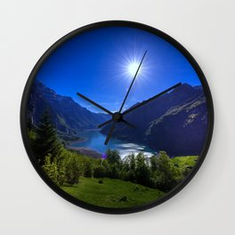 Valley Sunrise Wall Clock