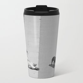 way out in the water... Metal Travel Mug