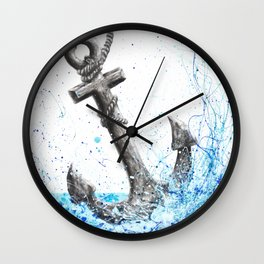 Sea Anchor Wall Clock