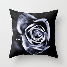 Silver Petals Throw Pillow
