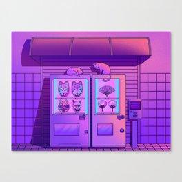 Neon Vending Machines Canvas Print