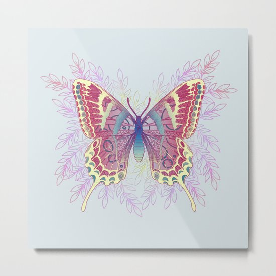 Beautiful Colorful Butterfly Design Metal Print