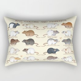 Rat colors and markings  Rectangular Pillow