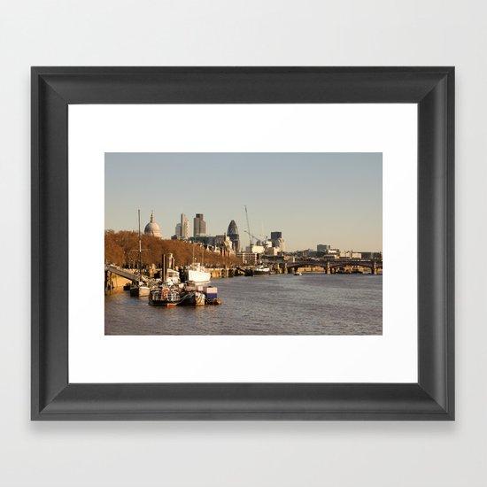 London at sunset Framed Art Print