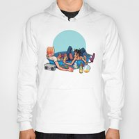 pool Hoodies featuring pool party by musa