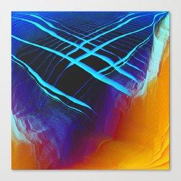Glitch Land Canvas Print