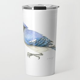 Blue Jay Study in Colored Pencils Travel Mug