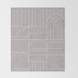 Deco Geometric 04 Grey Throw Blanket