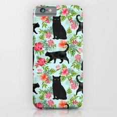 Black cat hawaiian cat breeds cat lover pattern art print cat lady must have iPhone 6s Slim Case