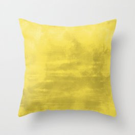 Burst of Color Abstract Watercolor Blend Pantone 2021 Color Of The Year Illuminating 13-0647 Throw Pillow