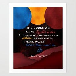 The Books We Love Art Print