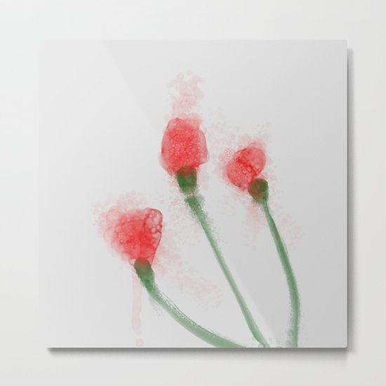 Red Buds Metal Print