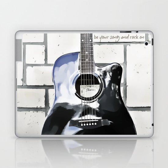 Be Your Song and Rock On in White II Laptop & iPad Skin