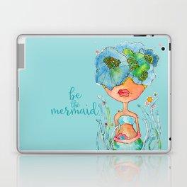 blue girl -- she's a gentle one. Laptop & iPad Skin
