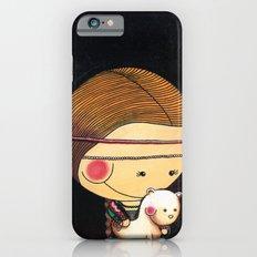 With my ferret  - Reinterpretation of Lady with an Ermine - Leonardo Da vinci - Art for kids iPhone 6s Slim Case