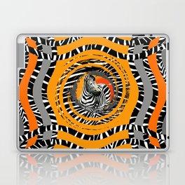Zebra Tribal Sunset Laptop & iPad Skin