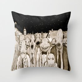 Innsmouth Meeting Throw Pillow