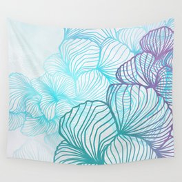 Cool Coral Comfort Wall Tapestry