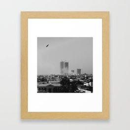 Smoke in the city Framed Art Print