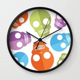 Merry Halloween skull Wall Clock