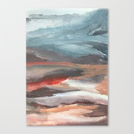 Serenity [2]: an acrylic piece in both warm and cool colors by Alyssa Hamilton Art Canvas Print